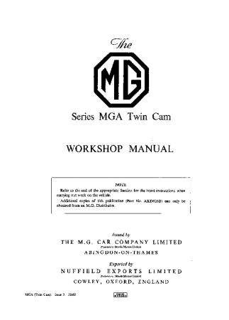 MGA Twin Cam
